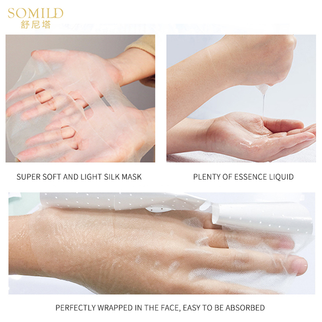 HEMEIEL SOMILD Hyaluronic Face Mask Natural Essence Whitening Moisturizing Bubble Mask Facial Skin Care Korean Treatment Mask 5