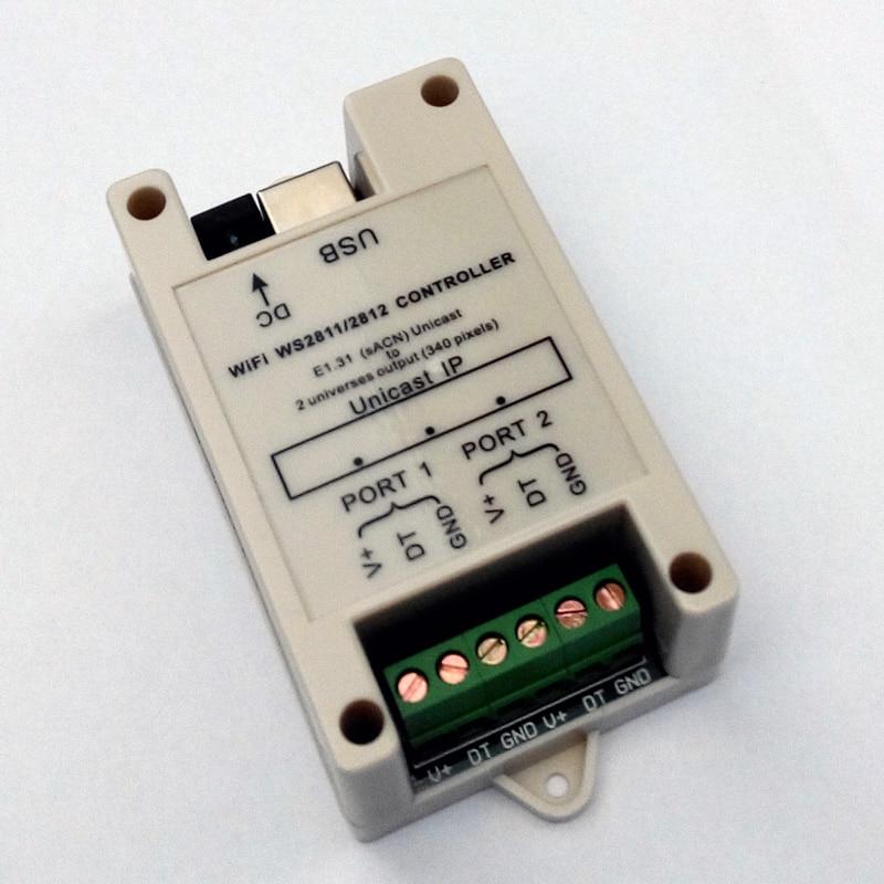 Petit contrôleur WiFi WS2811/WS2812 (DC5V-24V); jusqu'à 340 pixels (sortie 2 univers) - 4
