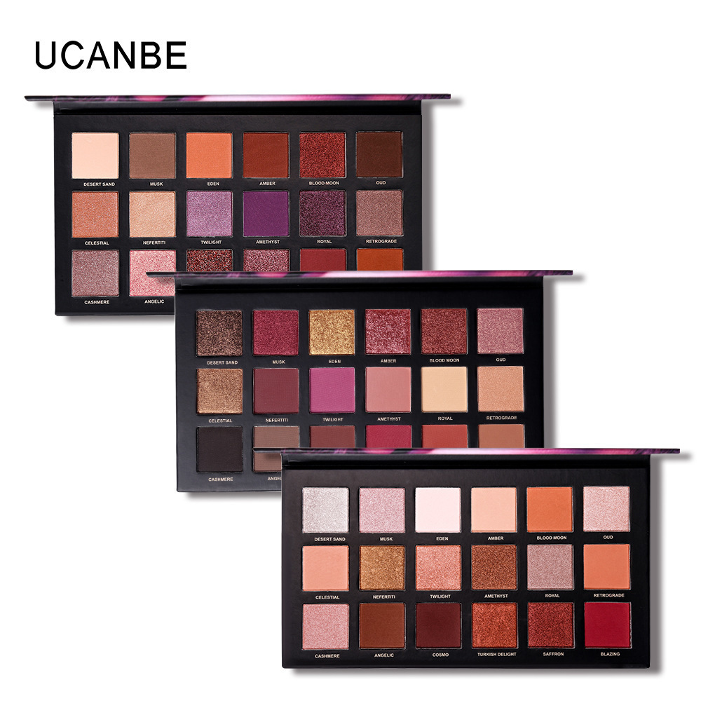 UCANBE Brand Matte Shimmer Eyeshadow Pallete pigment Nude Makeup Glitter Smoky Eye Shadow Powder Waterproof Cosmetic kit