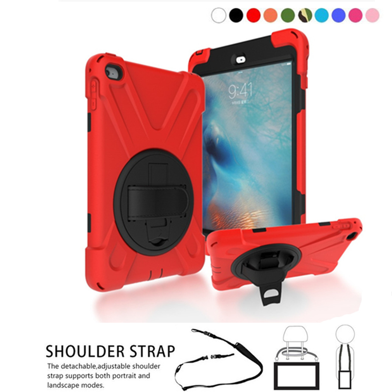 Official Website For Ipad Mini4 Shockproof Kids Protector Case For Ipad Mini 4 Heavy Duty Silicone Hard Cover Shell Tablets & E-books Case Shoulder Strap