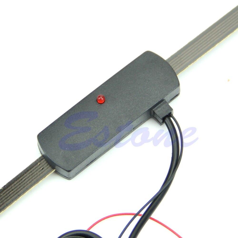 Electronic Car Auto Windshield Mount Self Adhesive Base TV FM Radio Antenna 12V