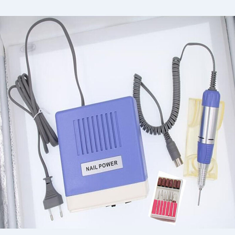 35W Black Pro Electric Nail Art Drill Machine Nail Equipment Manicure Pedicure Files Electric Manicure Drill & Accessory rebune 65w pro electric nail drill