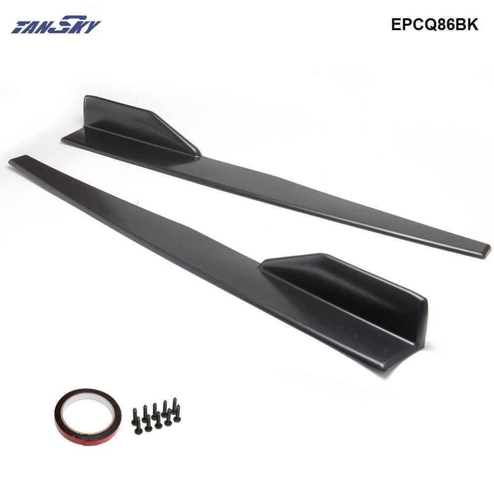 2 stks/set Black Car Side Anti-kras Rok Spoiler Rocker Splitters Kits EPCQ86BK