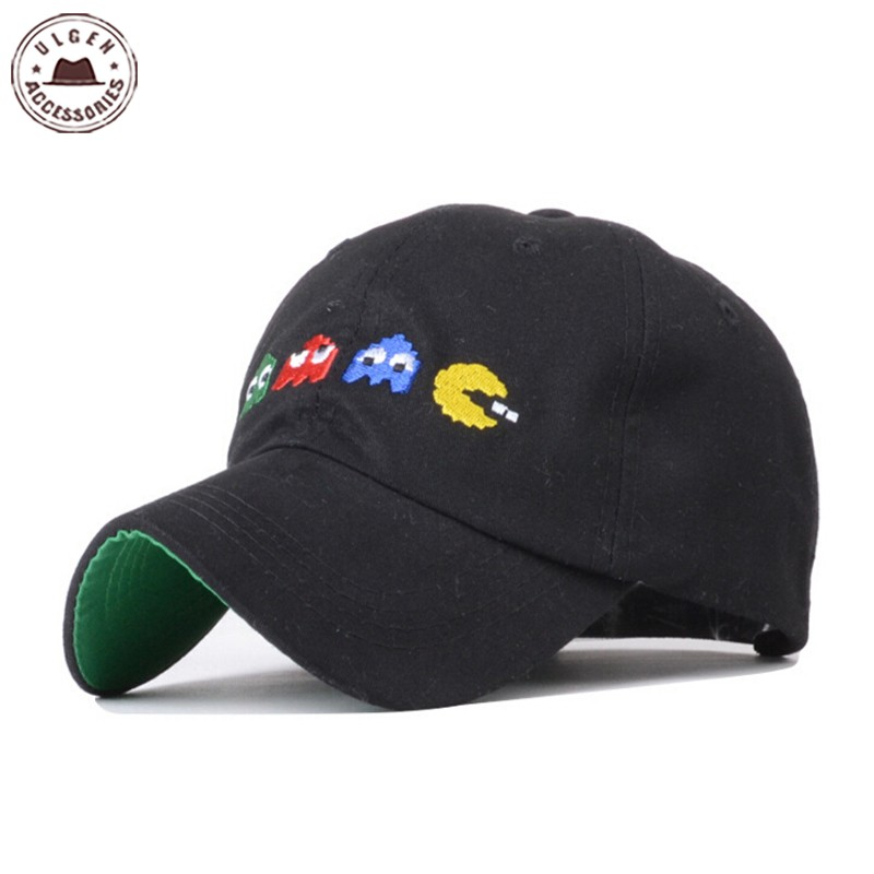 New PIXELS Movie Pacman Snapback Hat Adjustable Ghost And Pac Man Baseball Cap Unisex [HUB230g] hot winter beanie knit crochet ski hat plicate baggy oversized slouch unisex cap
