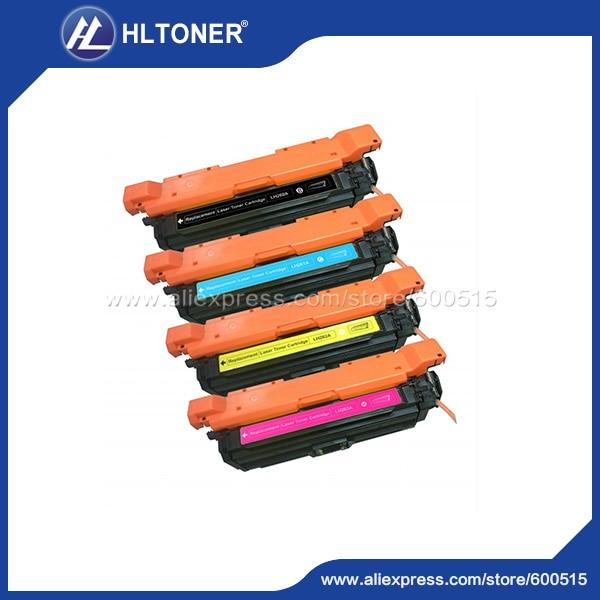 4pcs/set Compatible HP CE260A CE261A CE262A CE263A Toner cartridge for Color laserJet CP4025/CP4525n/CP4525dn