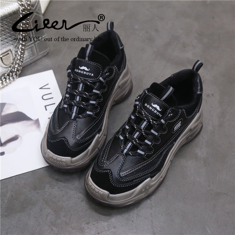 Liren Brand Women Sneakers Loafers Creepers Spring Autumn Casual Shoes Walking Platform Comfortable Breathable Female Flats