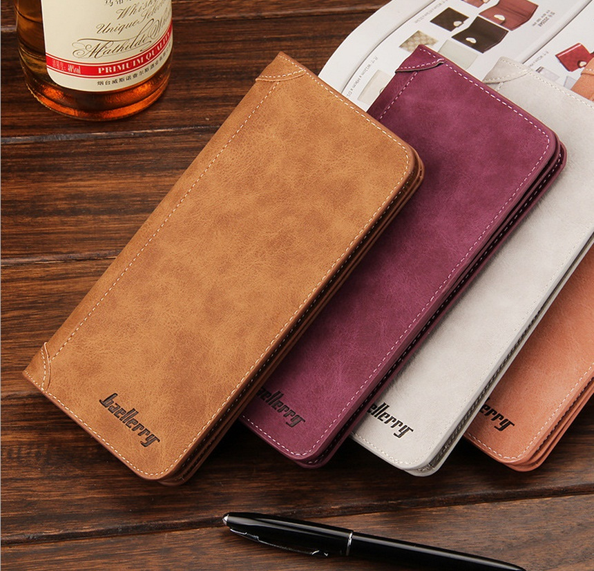 baellerry new hot-selling  lady Matte PU Leather Vintage Long wallets/purse/phone case for women free shipping G1133-3 hot selling oversize 1000% bearbrick luxury lady ch be rbrick medicom toy 52cm zy503