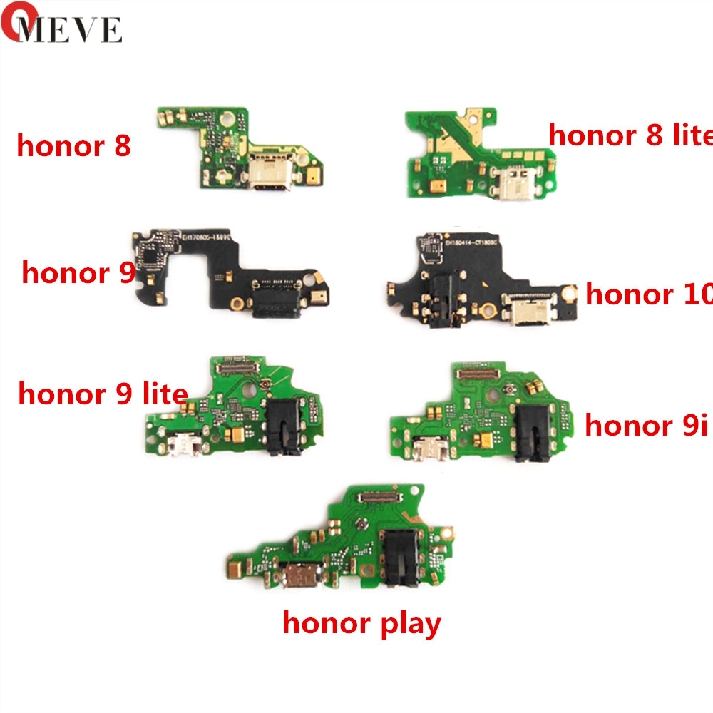 For Huawei Honor 8 9 10 9i 8 Lite Play Charger Charging Port Dock USB Connector Data Flex Cable Headphone Jack Flex Ribbon