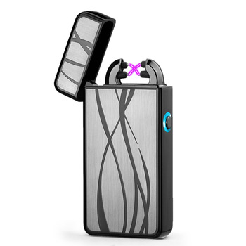 2018 Newest Electronic Usb charging double arc lighter plasma eletronic pulse lighters Chinese dragon shape lighter 2
