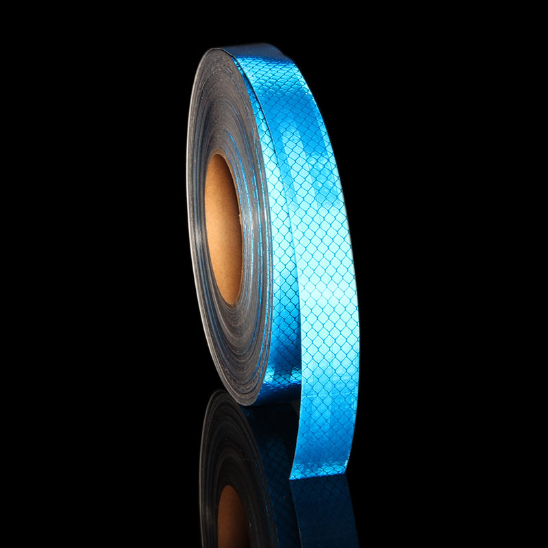 Us 25 30 Offhohe Intensität 3 M Sicherheit Band Reflektierende Streifen Für Autos Lkw Motorrad Helm Aufkleber Fahrrad Blau Auto Aufkleber