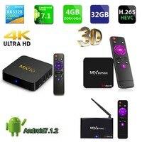 MX9 PRO MX9 MAX MX10 RK3328 Android 7.1 TV Box smart tv 2.4/5.0 WIFI 2GB 16GB 4GB 32GB 64GB HD2.0 Built in remote control