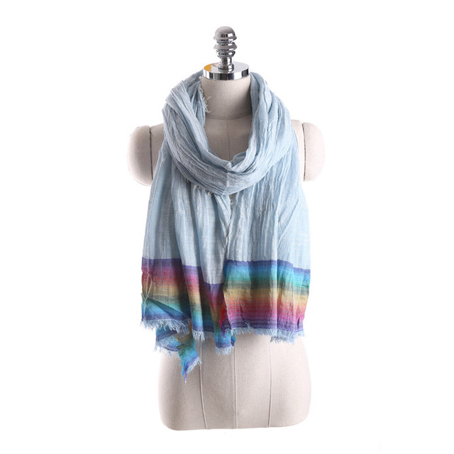 Rainbow Striped Summer Scarves | Lightweight Scarves