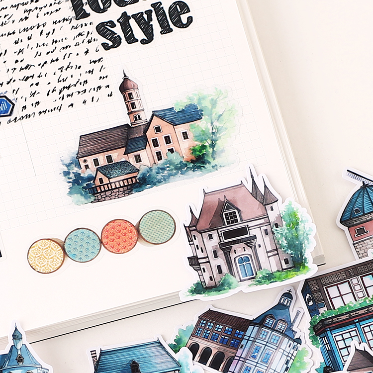 20pcs Cute Pastoral Cottage Kids Fun Paper Stickers Homemade Bookkeeping Decals On Laptop / Decorative Scrapbooking / DIY