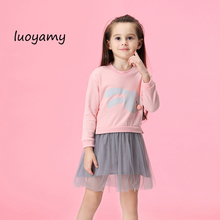 купить luoyamy New Autumn Children Princess Clothing Casual Long Sleeve Baby Kids Dresses for Girls 1-5 Year Toddler Girls Dress по цене 867.55 рублей