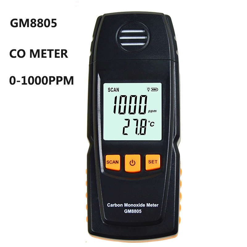 GM8805 High-precision LCD backlit display carbon monoxide detector CO meter Handheld portable gas analyzer Gas detection tool
