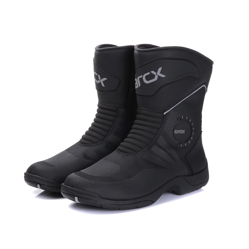 Buty motocyklowe Moto buty jeździeckie wodoodporna skóra bydlęca motocykl rowerzysta Chopper Cruiser Touring buty do kostki buty motocyklowe