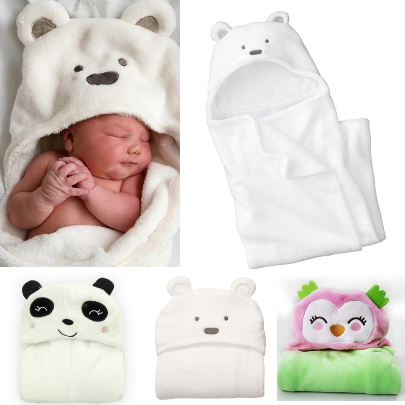 Baby Blankets Sleeping Bag Baby Clothing Bath Towel Bathrobe Wrap Cloak Cute Cartoon Bedding Random Animal Shape MKBDBS002