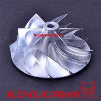 Roda do compressor boleto turbo para mitsubishi evo 3 td05h-16g kinugawa (48.30/68.01mm) 6 + 6 w/estender dica