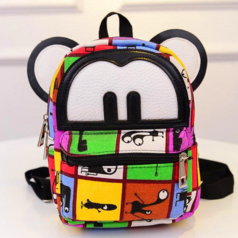 Women Mini font b Backpack b font Cute Mickey Ears Leather Small Rucksack font b Laptop