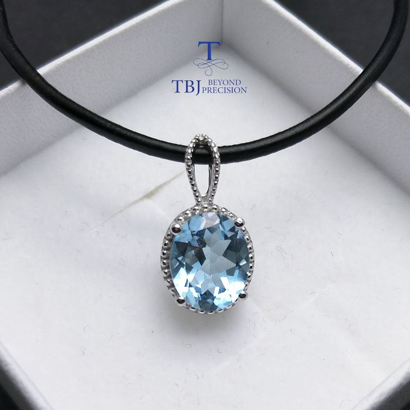 TBJ,2 colors topaz pendant sky blue topaz coated deep mystic blue topaz in 925 sterling silver simple gemstone jewelry for women термокружка gems 470ml blue topaz 1907 77