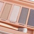 12 del maquillaje del Color de sombra de ojos paleta sombra de ojos cosméticos Shimmer belleza cepillo