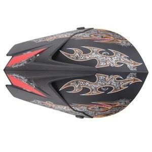 Image 5 - Fajny motocykl Cross Country kask mężczyźni i kobiety kable rozruchowe kask rower górski pełny kask