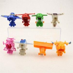 Image 3 - 8 adet/takım MINI Anime süper kanatları modeli Mini uçaklar oyuncak dönüşüm uçak Robot aksiyon figürleri superwings oyuncaklar çocuklar için