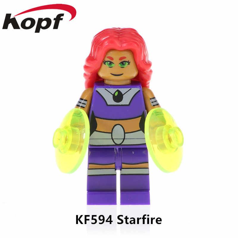 KF593 Única Venda Super Heróis Série Cyborg Natal Corvo Ação Besta Menino Brinquedos de Blocos de Construção de Tijolos Para Crianças Presente DIY