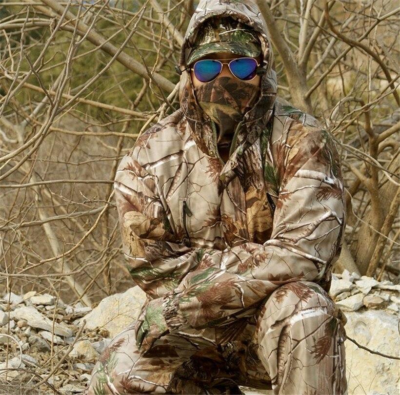 Imperméable à l'eau respirant feuilles mortes Camouflage pêche chasse 3D Bionic Ghillie costume Snipper tactique militaire vêtements veste