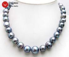 Ожерелье чокер женское из натурального жемчуга 10 13 мм