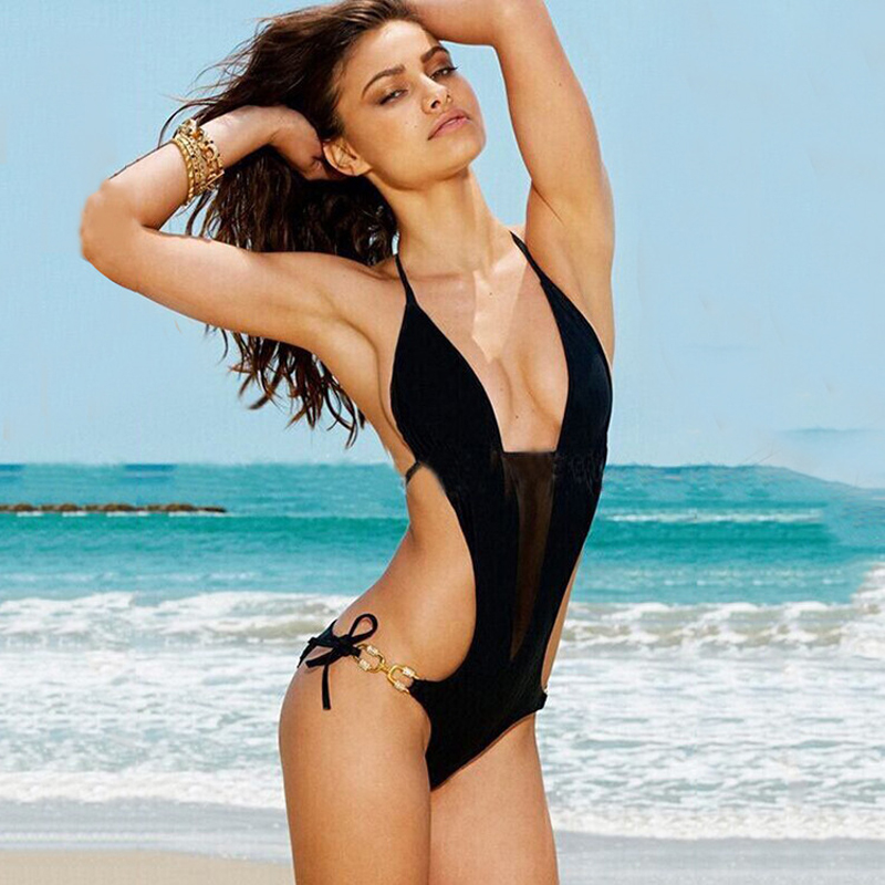 2017 High Cut One Piece Swimsuit Women Sexy Halter Swimwear Female Summer Bathing Suits Monokini Bodysuit Beach Swimming Suit sexy thong tanga one piece swimwear women swimsuit high cut leg cheeky female bodysuit jumpsuit summer hot beach wear