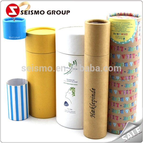 Wholesale Round Cardboard Paper Cylinder Packaging Lipstick Tube Box