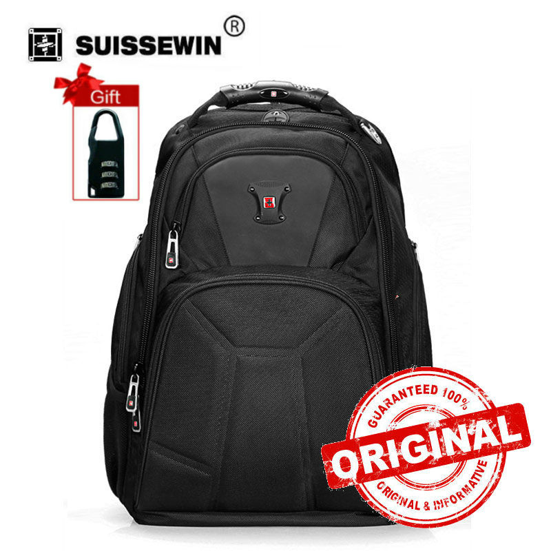 2017 Mochilas Backpack Kpop Swisswin Mens Classic Laptop Backpack For 15.6 Computer Daily Casual For Teenage Sac A Dos Sw9807
