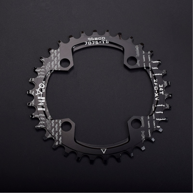 FMF Bike Chainwheel OVAL Chainring BCD 96mm 32/34/36/38T Chain Ring MTB Mountain Road Bike Aluminum Alloy Chainwheel Colorful