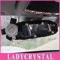 Ladycrystal Персонализированные Камелия Внутреннее Зеркало Крышка PU Кожа Зеркало Заднего Вида Обложки Девушки Авто Стайлинг Аксессуары