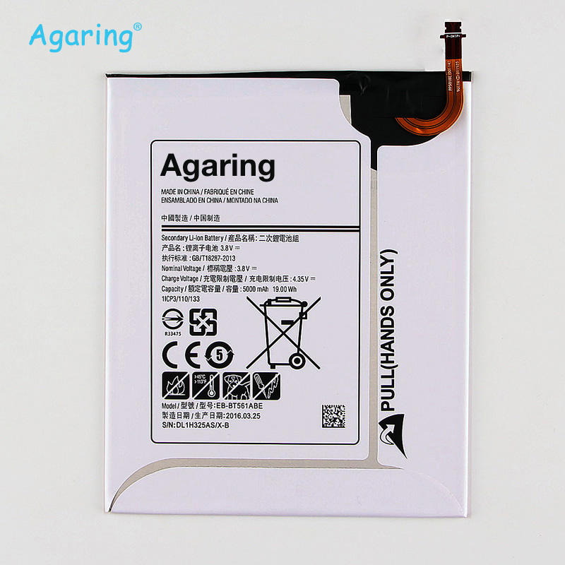 Agaring Replacement Battery EB BT561ABE For Samsung GALAXY Tab E T560 T561 SM T560 Authentic Phone