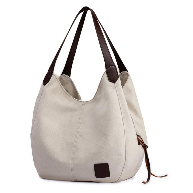 Canvas Bag Vintage Canvas Shoulder Bag Women Handbags Ladies Hand Bag Tote Casual Bolsos Mujer Hobos Bolsas Feminina 2018