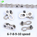 1 Pair 2pcs Bike Chains mountain road bike bicycle chain Connector for 6/7/8/9/10 Speed Quick Master Link Joint Chain bike parts