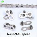 1 par 2 piezas bicicleta cadenas carretera de montaña bicicleta cadena conector para/6/7/8/9 /piezas de bicicleta de cadena de acoplamiento maestro rápido de 10 velocidades