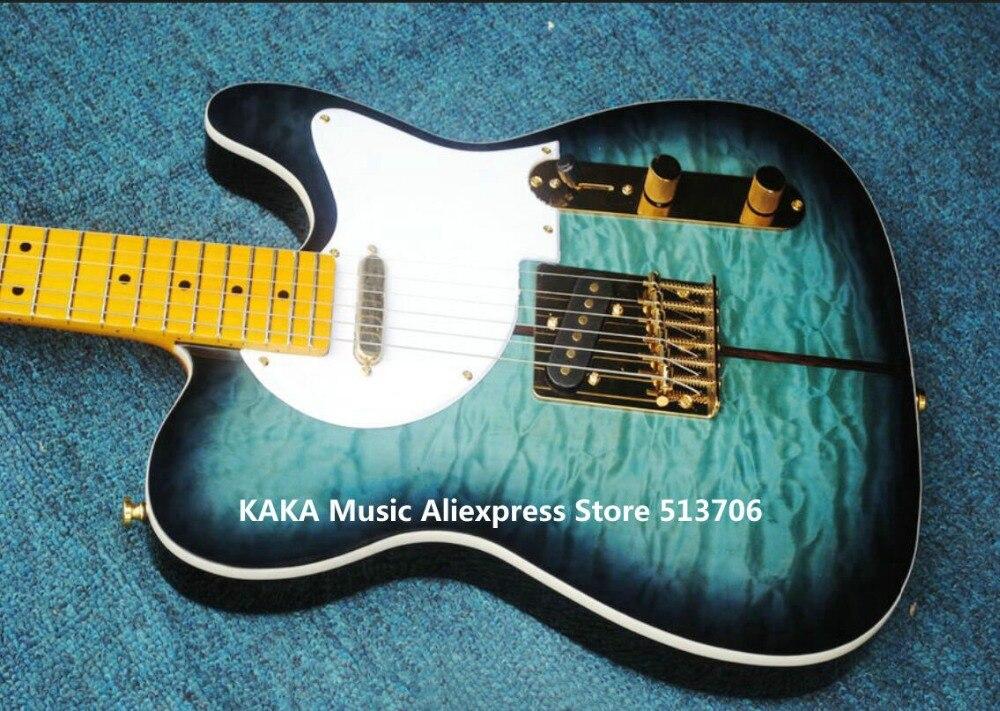 guitar factory merle haggard signature tuff dog electric guitar tl green burst free shippingchina