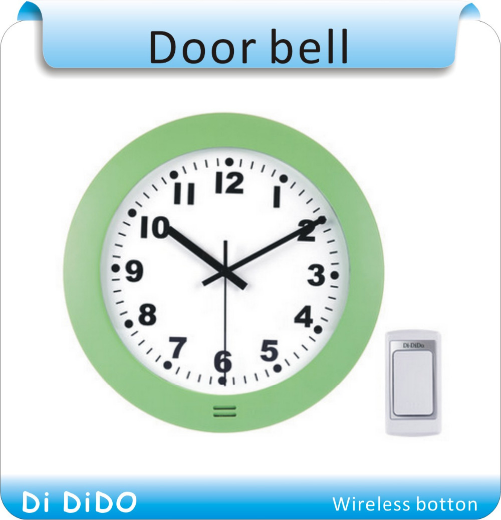 US $24 43 6% OFF|Free shipping Wireless Door Bell Doorbell with clock style  /flash light and Melody music for Home Alarm Ring Bell-in Doorbell from