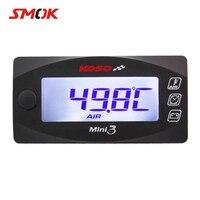 SMOK Universal Motorcycle Multi Function Mini 3 Digital Air Temperature Thermometer Voltmeter Time Water Meter Gauge KOSO