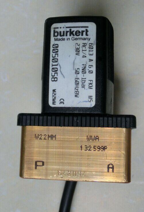 Alman solenoid vana 6013 Bir 6.0 FKM MS 00501058Alman solenoid vana 6013 Bir 6.0 FKM MS 00501058