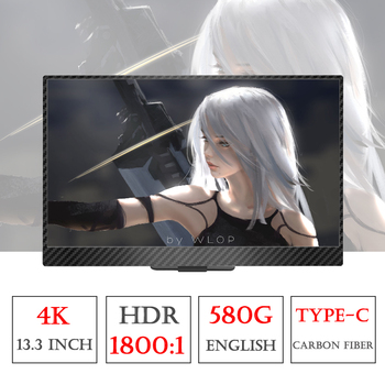 13.3 Inch 4K HDMI DP Portable Monitor 3840 * 2160 HDR IPS Screen For Game Surpport HDCP 2.2  Display For PS4 Pro XBOX One PC лоток для бумаг вертикальный металлический
