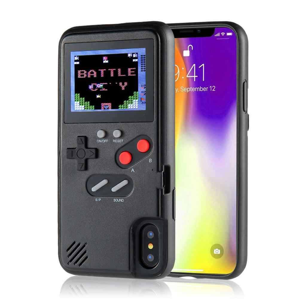 Funda de teléfono Retro Teris Game para iphone 6 6 6s 7 8 Plus 3D Video pantalla a todo Color Gameboy funda para iphone X xs Max Xr Mujer