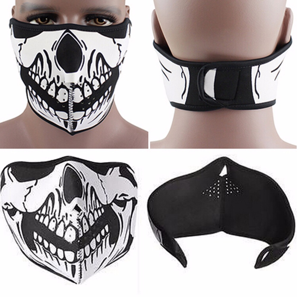 Hot 2017 Neck Warmer Mask 2 style air force Skull Tubular Scary Face Mask  Bandana Motorcycle Riding Multi function braga cuello-in Scarves from  Sports ... 2f721019ef