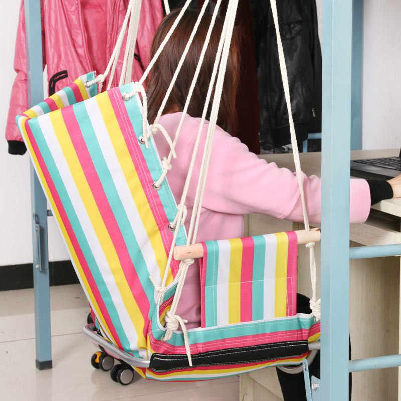 Thick alta qualidade cadeira quarto crianças único balanço rede interior ao ar livre casa