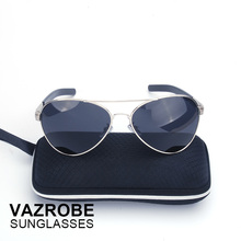 Vazrobe (165mm) Oversized Polarized Sunglasses Men Aviation Suit for 75kg-150kg Man Large Face Driving Fishing Anti Glare UV400