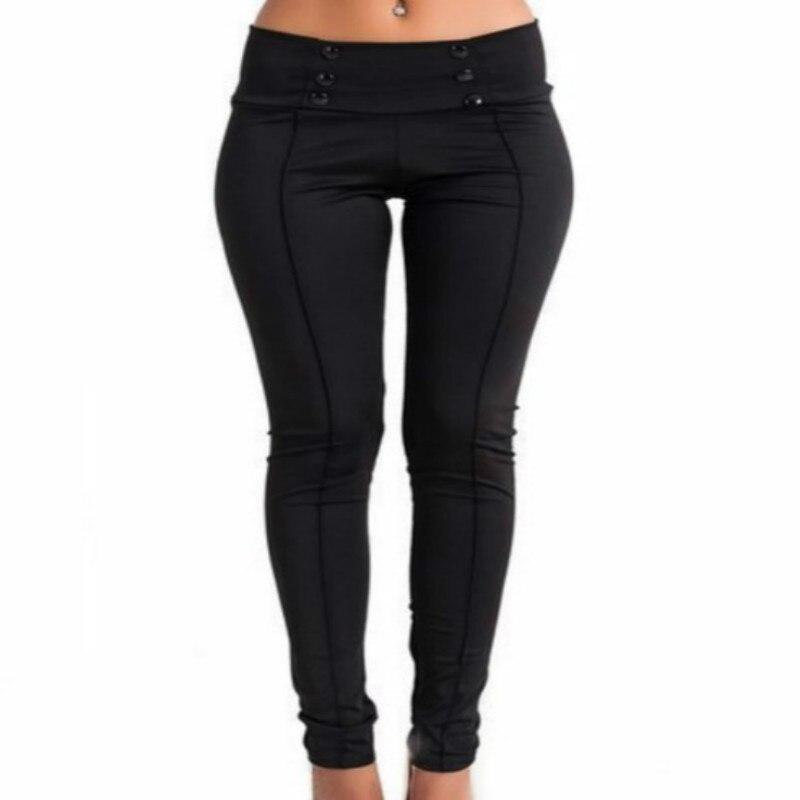 BONJEAN Ladies Leggings Pencil Pants Women mid Waisted Slim Stretch Leggings Trousers sexy hip slim ladies Trousers