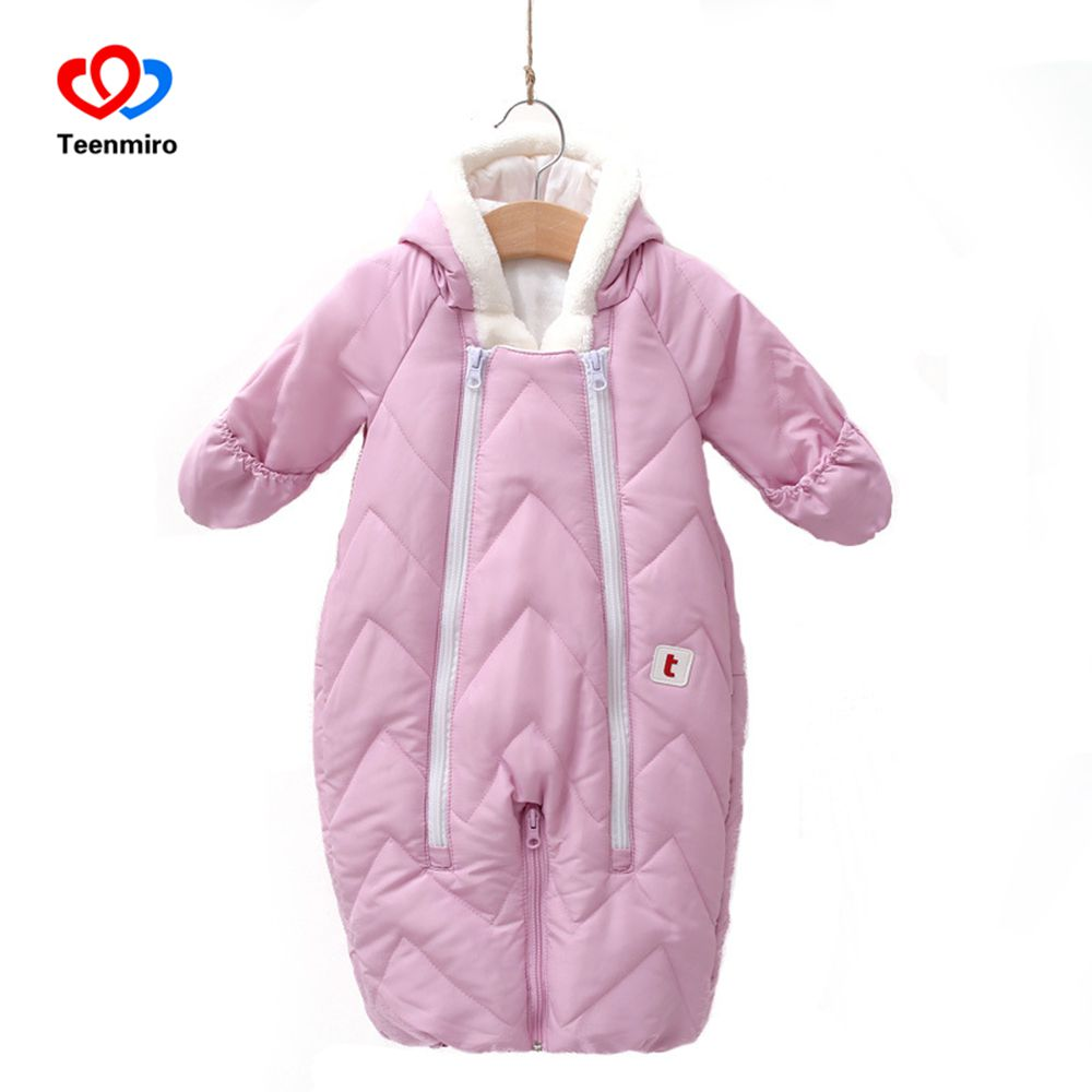Snowsuit Baby Snow Wear Cotton Padded Warm Outerwear Children Overalls Romper Kids Winter Jumpsuit Newborn Parkas Infant Casaco 2017 winter overalls warm hooded romper for newborns baby children jumpsuit outerwear sport coats infant child snowsuit 0 3t